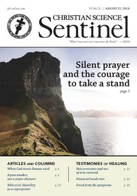 SILENT PRAYER AND THE COURAGE TO TAKE A STAND