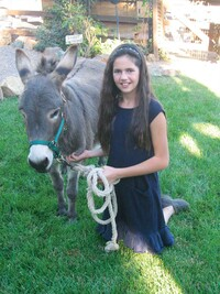 Sissy and her donkey