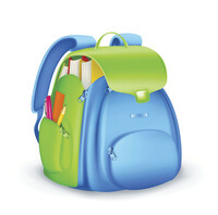 drawing of a child's backpack